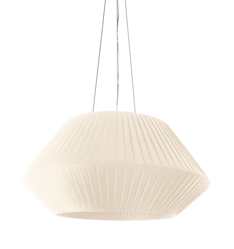 Suspension RUBAN H268 ivoire - Design Fabrice BERRUX
