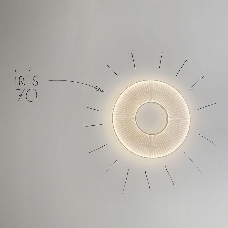 IRIS 70 - Applique - H684 - Design Fabrice BERRUX