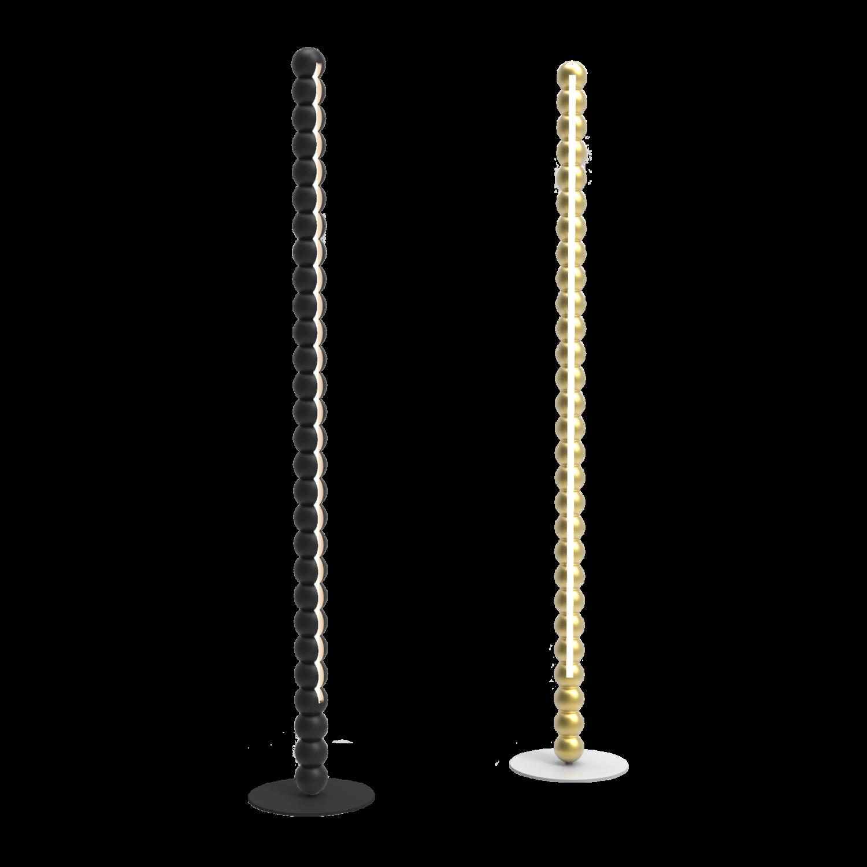H700 Lampadaires PERLES noir et or - Design Fabrice BERRUX